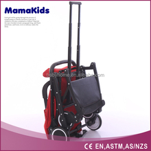 Travel Systems Baby Stroller 4 Swivel Wheel Fold Pushchair with Safety Strap for Child 6 Months to 3 Years Old