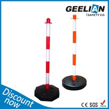 Dismountable Red And White Plastic Navicade Traffic Channelizer For Europe market