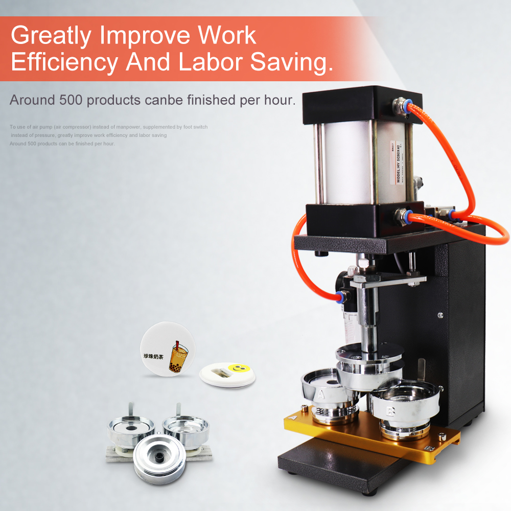 2018 Automatic Button Badge Making Machine For Round,Oval ...