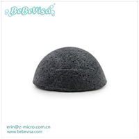 Activated Charcoal Konjac Cleansing Sponge / green tea sponge with color box
