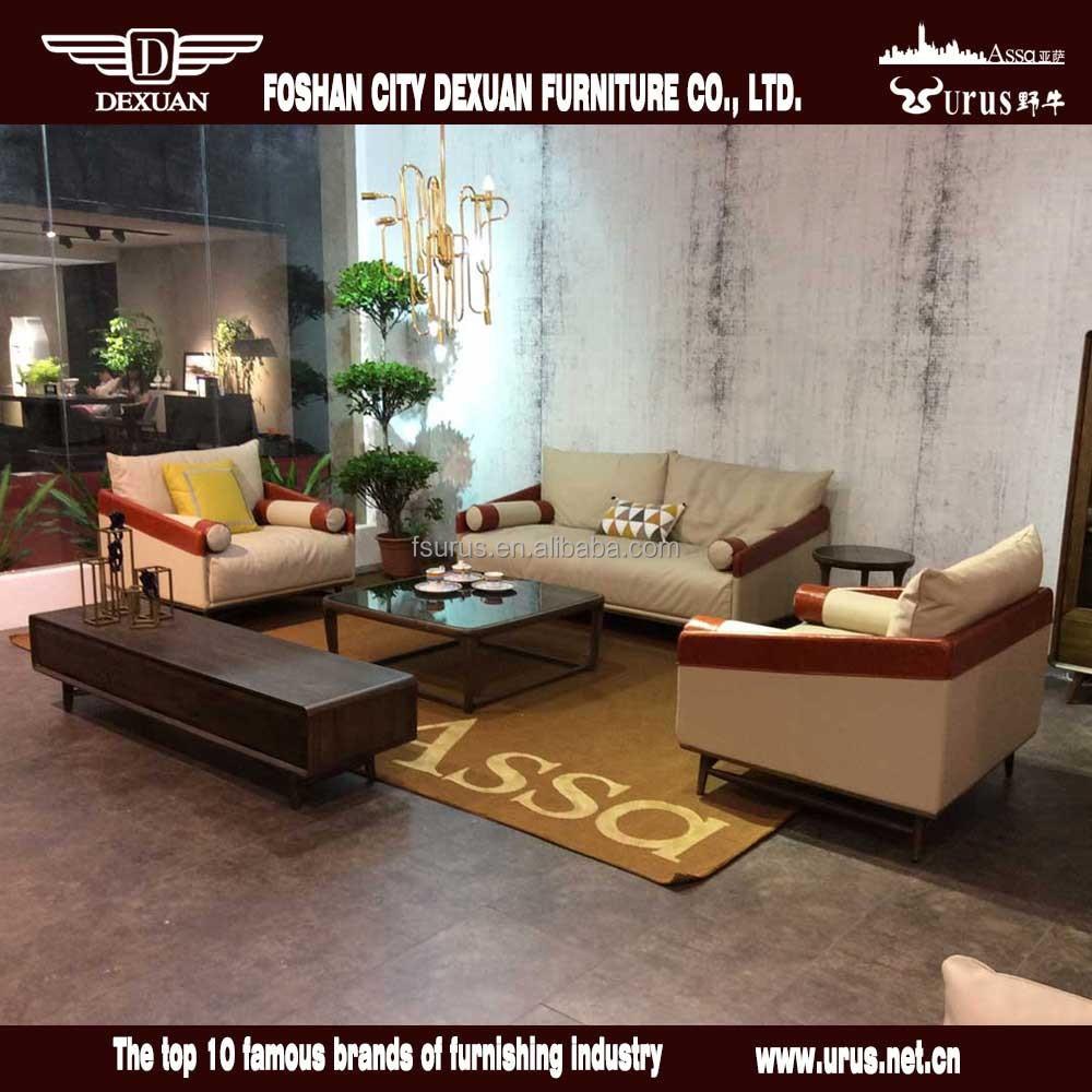 Post moderne italie grain supérieur en cuir meubles de salon ...