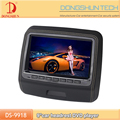 Hot selling 9 inch headrest DVD player with HD input and wireless for all car
