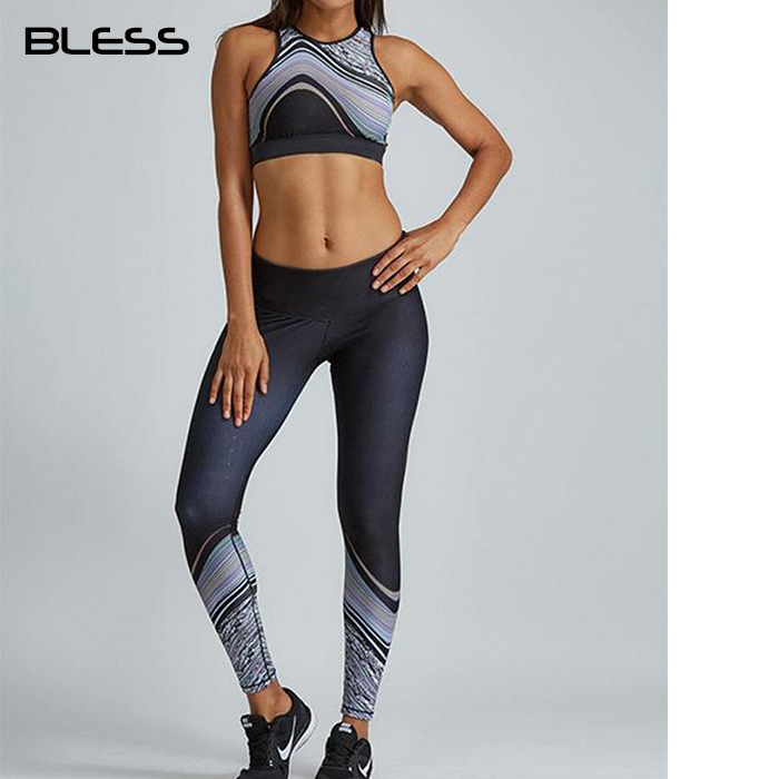 (OEM Factory)wholesale ladies bamboo lycra yoga fitness clothing womens gym wear