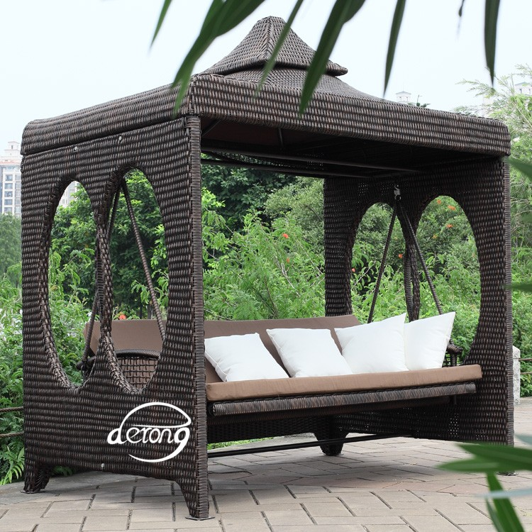 gartenm bel au en beliebten rattan m bel luxus pe rattan korb garten schaukel wicker garten. Black Bedroom Furniture Sets. Home Design Ideas