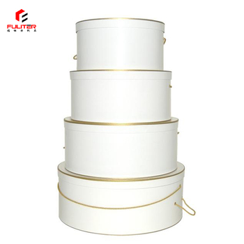 Wholesale White Round Hat Storage Boxes With Lids