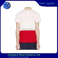 High Quality Two Tone Blank Men Soft Cotton Polo Shirt 2015
