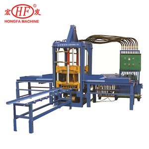 Hongfa Automatic Color Paver Hollow Block Making Machine QTF3-20 Color Fly Ash Cement Brick Making Machines In India