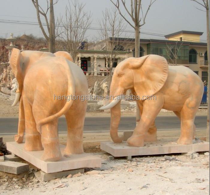 Large Stone Elephant Statue, Garden Elephant Sculpture