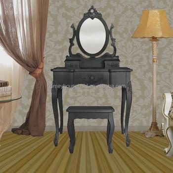 Barato Colonial Madera De Teca Muebles De Dormitorio Negro Tocador ...