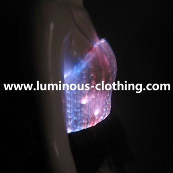 Gorgeous Hot Girl Club Dance Wear Sexy Bodysuit Top Led Light Up ...