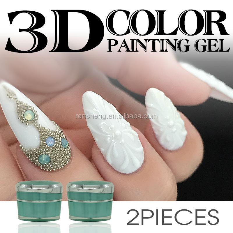 Popular Girls French Nails Uv Gel Nail Art