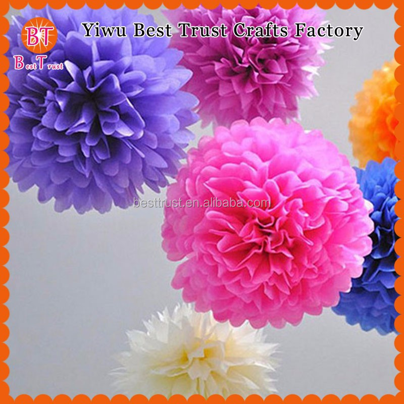 How To Make Paper Flower Balls Garland Wedding Decorations