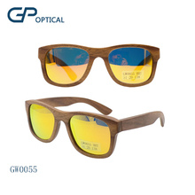 GW0055 Wholesale Handmade Wood mirror custom logo wooden Sunglasses frame