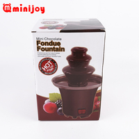 Cheap 4 layers hot sale home use entertainment chocolate fondue fountain and processing machine
