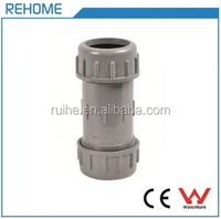 PVCU Pipe Fitting Plastic Quick Compression Coupling Straight for Connection