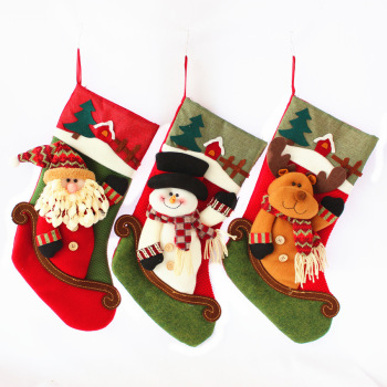 China Cheap promotion christmas stocking cute christmas decorative socks