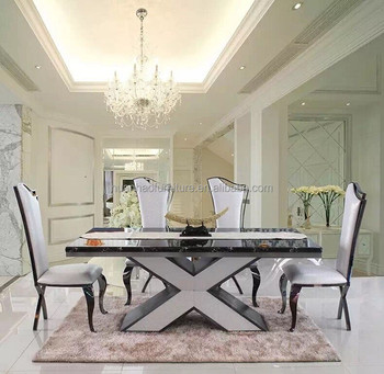 Dh 1410 Italian Furniture Made In China Custom Cut Marble Top Dining Table Prices