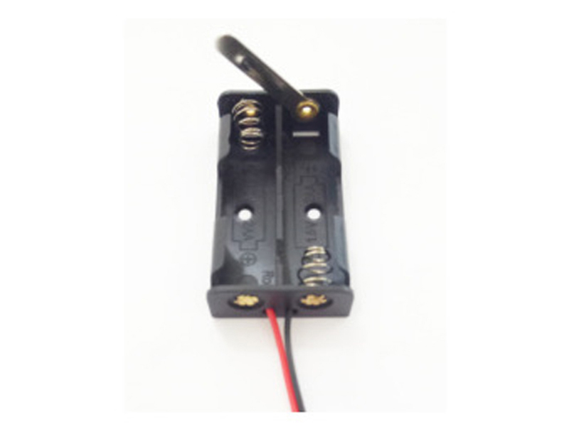 2 pacco AA Supporto Della Batteria Con Scollegare Lama di Coltello Interruttore