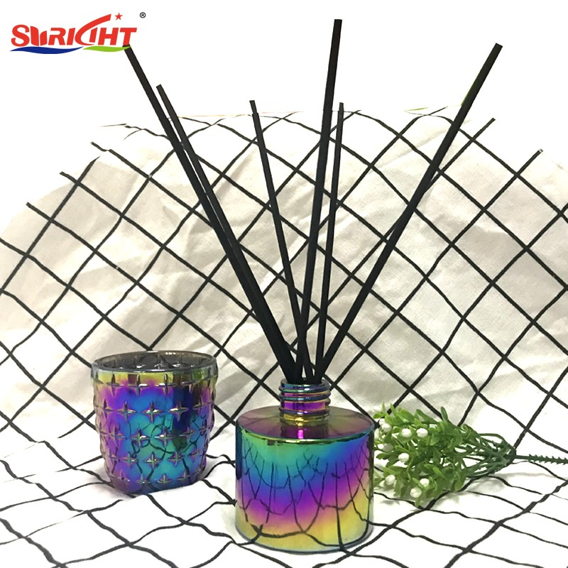 New Technic Ion Electroplated   Glass Candle Holders and Glass Reed Diffuser Set