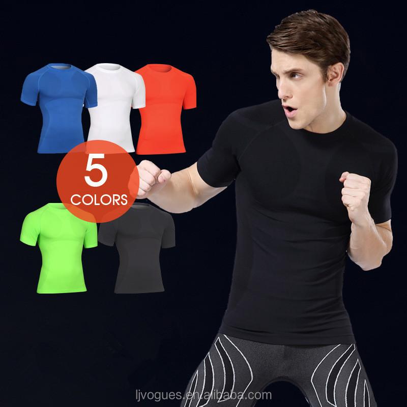 Wholesale Gym Clothes Men Gym Fitness Compression Mens T Shirt