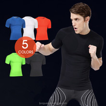 Wholesale Gym Clothes Men Gym Fitness Compression Mens T Shirt