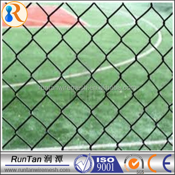 Wire Mesh Fence For Boundary Wall Pvc Coated Chain Link Fencing