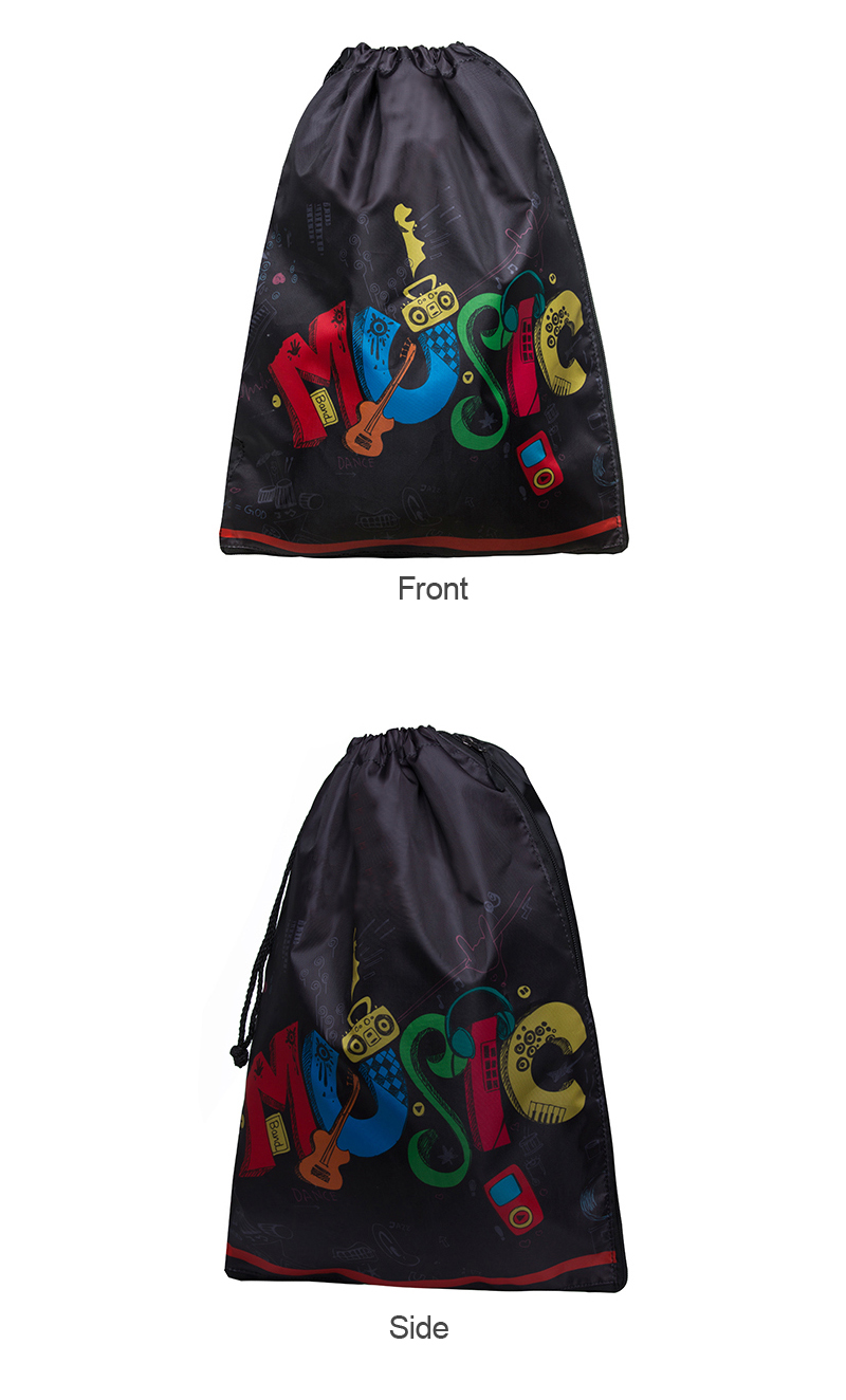 Hot Selling Promotional Custom Printed Drawstring Backpack Teenagers Nylon Plain Drawstring Backpack