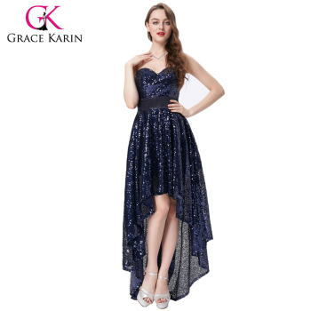 Grace Karin New Strapless Sweetheart Navy Blue Short Front Long Back ...
