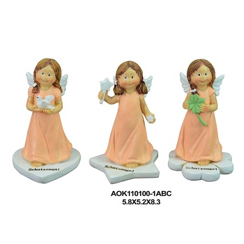 Home Decorative Angel Cherub Figurine Two Wings polyresin Girl baby angel figurines