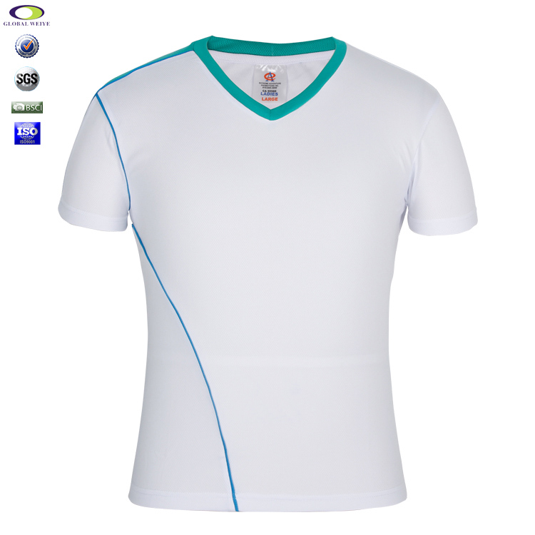 Manufacturer Fashion 100% White Polyester Blank Men T Shirt