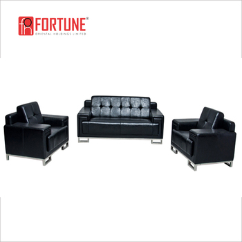 Standard 1 1 3 Seats Black Leather Office Lounge Sofa In Guangzhou Foh 6676 Buy Office Lounge Sofa Black Leather Office Sofa Guangzhou Office Sofa