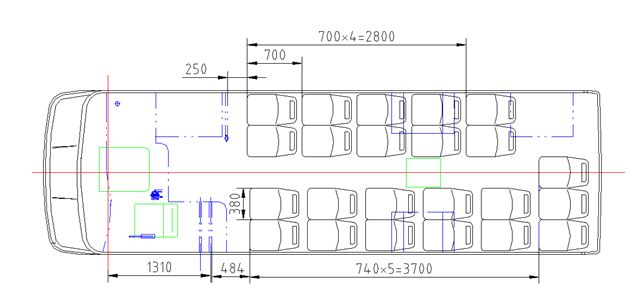 China Passenger Bus Manufacturers Sell 2 2 Seat Layout 22