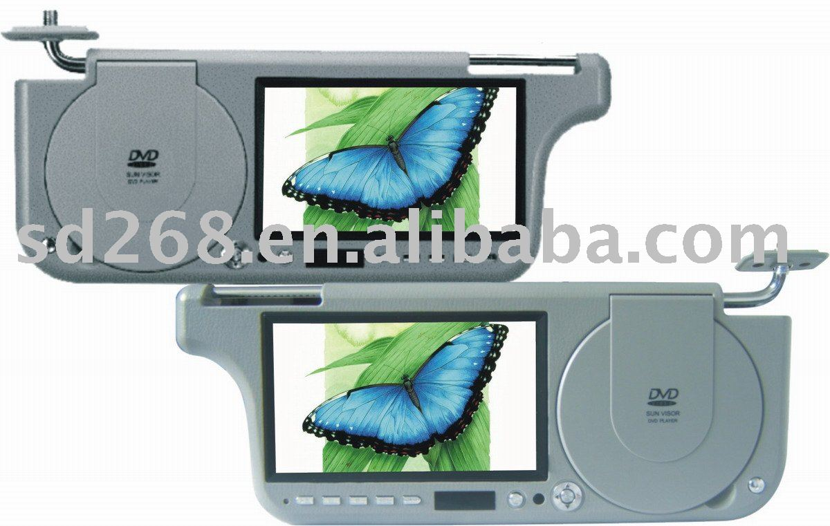 car 7 inch sun visor dvd player