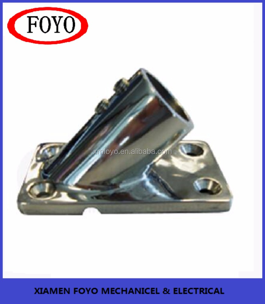 China hotselling cheap 45 degree flag pole base for marine boats with high quality