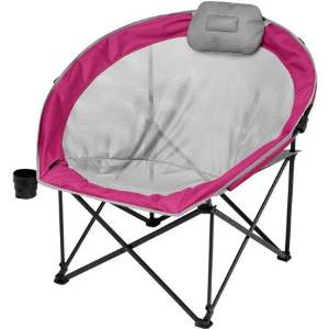 Ozark Trail Steel Frame Oversized Cozy Camp Chair, Red
