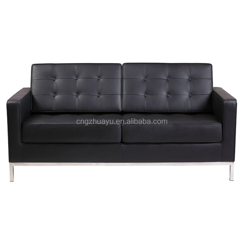 Aniline leather Florence Knoll sofa replica