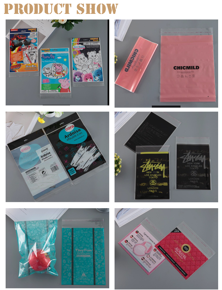 customized Plastic size and logo opp bags for phone case