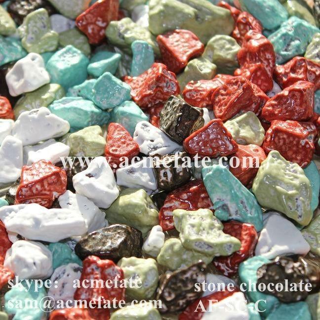 Colorido piedra choc recubrimiento de chocolate con - Recubrimiento de piedra ...