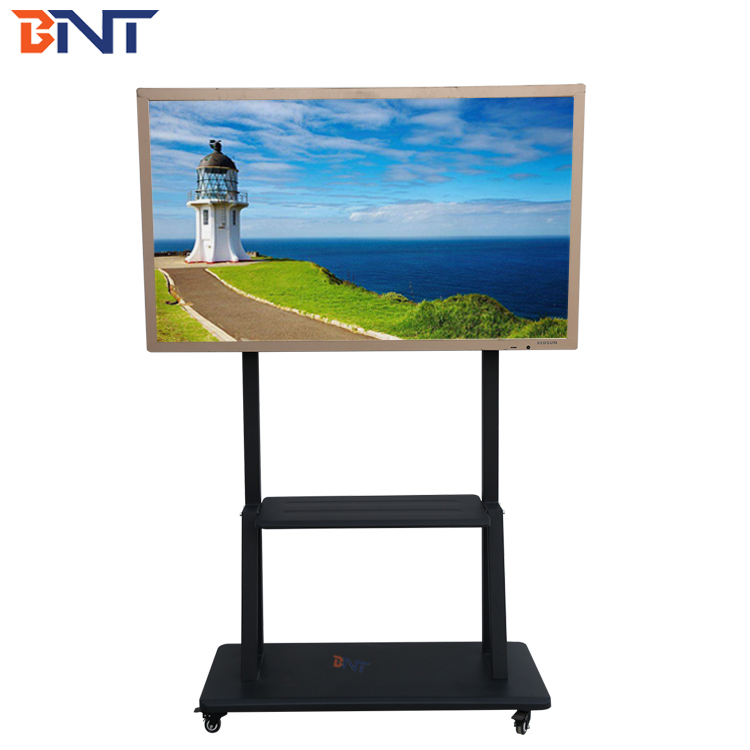US market hot selling support 60-75 inch touch tv mobile tv display <strong>stand</strong>