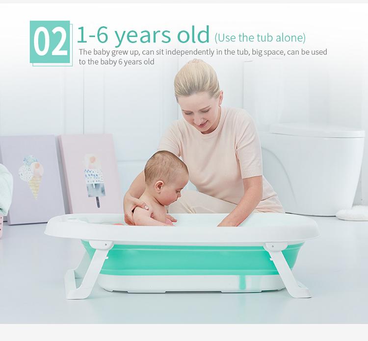 Plastic Foldable Bathtub Portable Baby Bath Tub - Buy Plastic ...