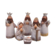 Silver Resin Shimmer Kids Christmas Nativity Set