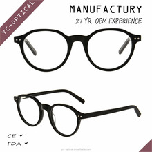 2017 fashion optical eyeglasses frame acetate material rond shape glasses frame