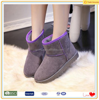 High quality ankle leather ladies winter boots