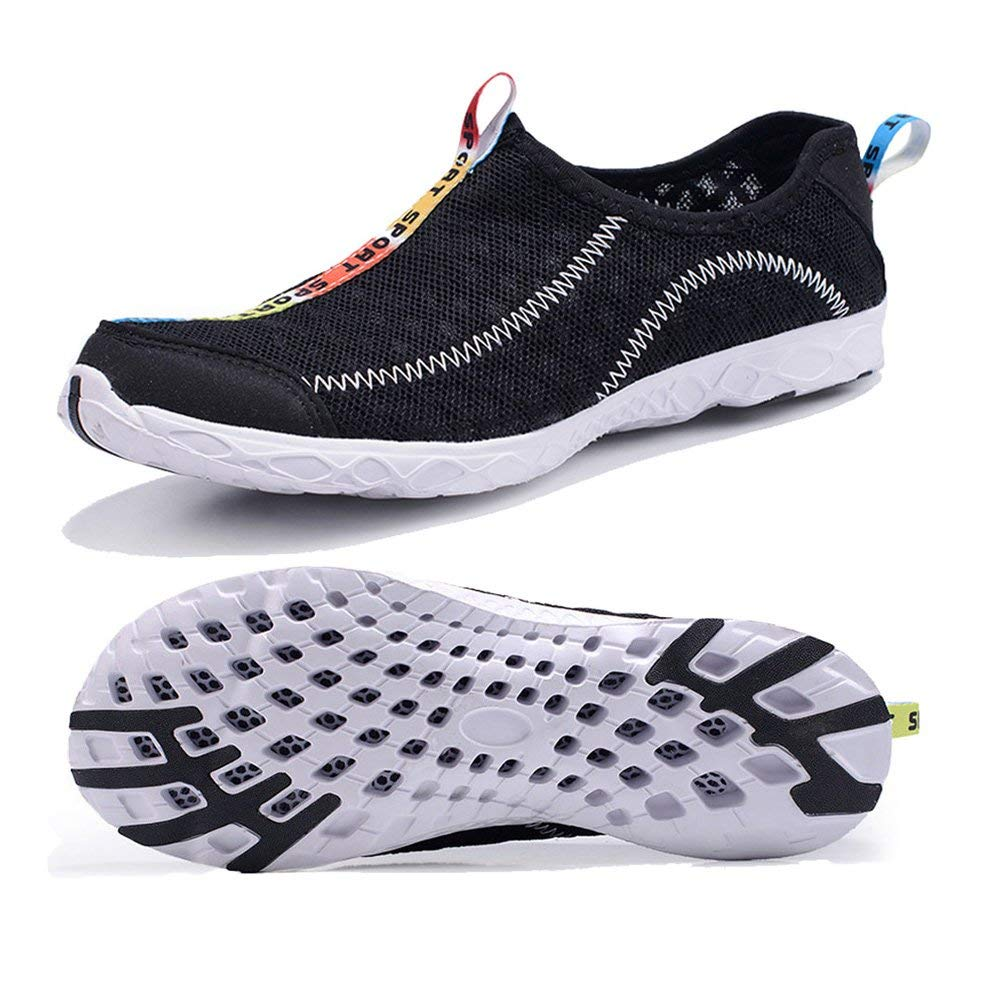 Fung-wong Women's Mesh Water Shoes Quick Drying Slip-On Aquad Sneakers