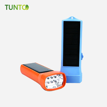 2019 Portabel Terbaik LED Solar Rechargeable LED Flash Light Torch Light
