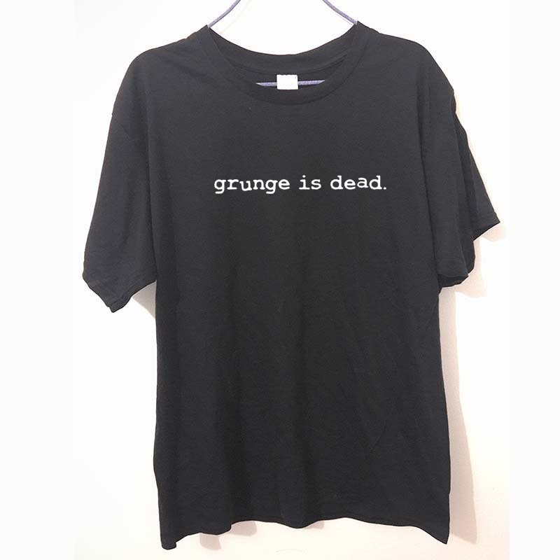New Summer Grunge is Dead kurt cobain nirvana 90s rock Funny T Shirt Men Funny Cotton