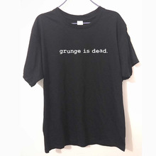 New Summer Grunge is Dead kurt cobain nirvana 90s rock Funny T Shirt Men Funny Cotton Short Sleeve T-shirt Tshirt camiseta