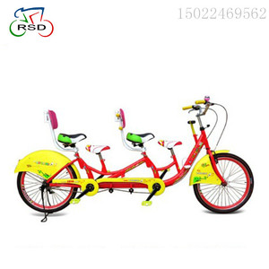 4 wheels Color plastic clay board, chain cover/happy family sightseeing cycling/tandem bike road