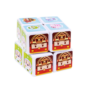Stocked promotional Children toy 2x2 plastic mini sticker magic cube puzzle