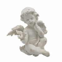 White Christening Baby Boy Angels In Polyresin